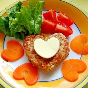 ワンコ用 バレンタイン♡ポテト野菜ハンバーグ