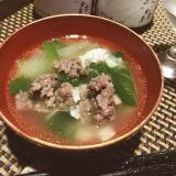 おうちでジビエ、鹿肉団子の中華風スープ