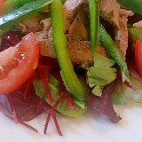 ローストポークとパプリカのごまサラダ