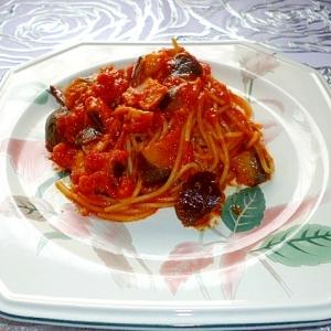 トマトが美味しい☆茄子とベーコンのトマトパスタ♪