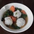 葉大根と鶏団子のスープ