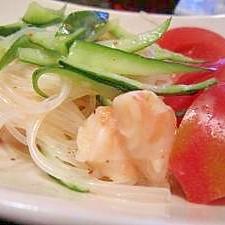 キムチの素を使って簡単春雨サラダ