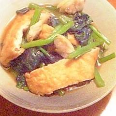 カルシウムたっぷり!小松菜とお揚げの煮びたし