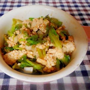 鶏ひき肉とキャベツのケチャップ煮