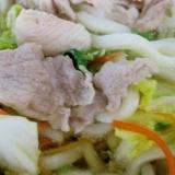 豚肉たっぷり白菜うどん