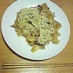 余った素麺 de 素麺チャンプル