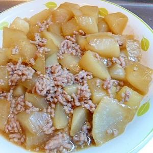 大根と豚ひき肉の煮物