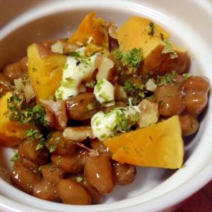 かぼちゃと胡桃のガリマヨ納豆❤︎