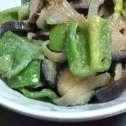☆野菜の味噌炒め☆ナス・ピーマン・タマネギ