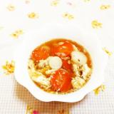 かぶと人参のかきたまスープ