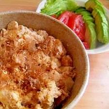 ○ 豆腐とツナの簡単丼 ○