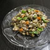 レンズ豆とツナのマヨ和えサラダ