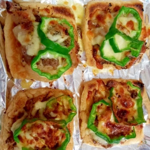 煮物や炒め物のリメイク・オキツネピザ