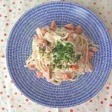 【早業】カロリー&糖質オフ 鮭の豆腐クリームパスタ