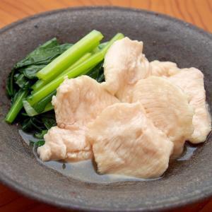 しっとり胸肉と小松菜の煮物