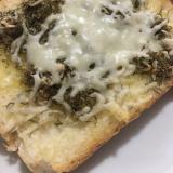 じゃこ昆布の、チーズトースト