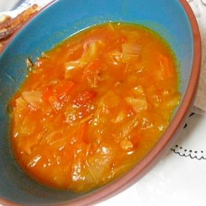 ベーコンたっぷりトマト野菜スープ