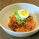 簡単韓国料理-ビビン麺風そうめん