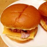 バーガーバンズでツナサラダとチーズのサンドイッチ