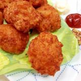 HMで簡単(^^)鶏ひき肉と豆腐のチキンナゲット♪