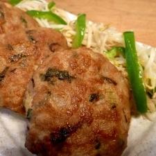 タレ不要☆豚挽き肉の簡単つくねバーグ