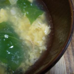 ほうれん草とえのきの和風卵スープ☆