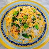 鮭と菜の花の混ぜご飯