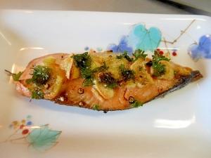 トースターで☆鮭の大蒜マヨ焼き☆
