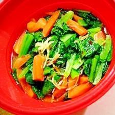 小松菜と人参の中華蒸し