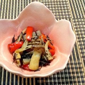 ひじきと赤パプリカの炒め煮