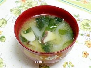 玉ねぎとエリンギの味噌汁