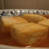 フライパンで揚げ出し豆腐★つゆが旨い!
