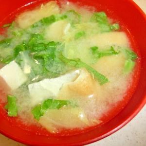 白菜と油あげの味噌汁