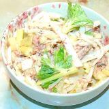 鯖の水煮缶で!セロリと大根と鯖のマヨポンサラダ