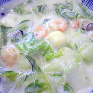 シーフードと白菜のクリーム煮♪