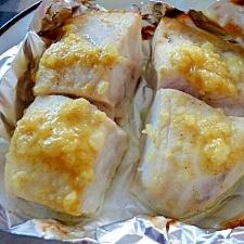 カジキマグロのカレー塩麹焼き