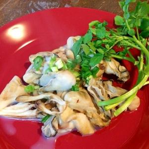 牡蠣と舞茸のソテー