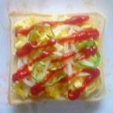 ☆タマゴサラダ☆で☆ピザパン☆