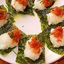 キムチとマグロで*簡単一口寿司