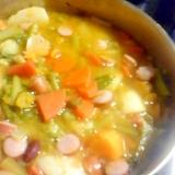 ぽかぽか♪かぶとかぼちゃの野菜たっぷりスープ