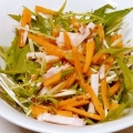 にんじんと水菜とハムとマリネサラダ