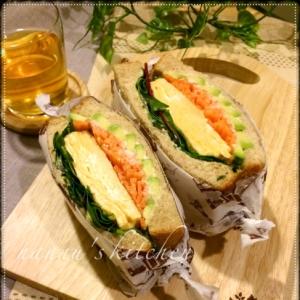 厚焼き玉子サンド~ハニーマスタード風味