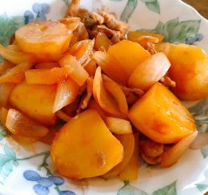 ジャガイモと豚肉の炒め物