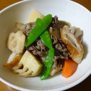 根菜と牛肉の煮物