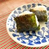 韓国海苔でプチおにぎり☆キムチ&うずらの卵入り