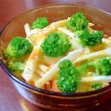 鱈チーズとブロッコリーの白菜サラダ