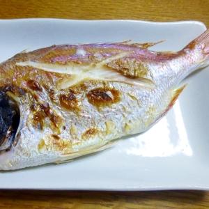 ち鯛の塩焼き