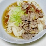 かしわ煮(鶏煮) うどん、そば、麺類に