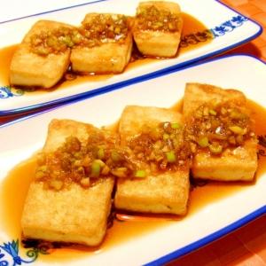 豆腐ステーキ☆甘酢醤油だれ