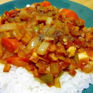 牛脂で旨味アップ♪レンジde高野豆腐ドライカレー